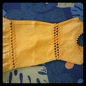 Herve Leger Yellow dress